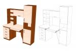 Стол прямой 5
